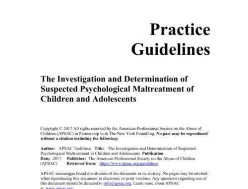 The Investigation and Determination of Suspected Psychological Maltreatment of Children and Adolescents
