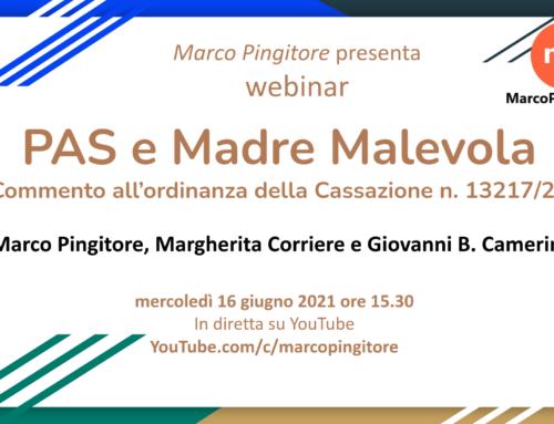 [webinar] PAS e Madre Malevola